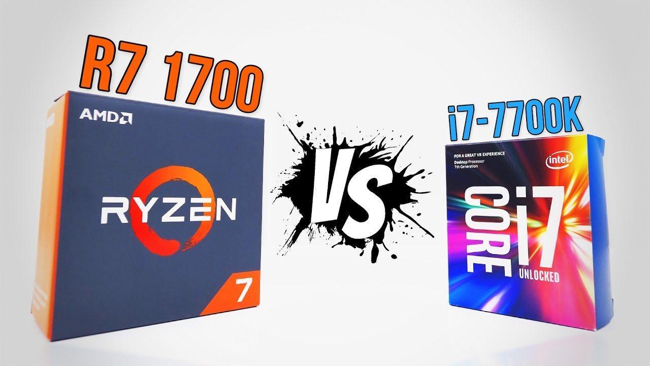 RYZEN R7 1700 vs i7-7700K | Benchmarks
