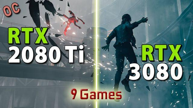 RTX 3080 vs RTX 2080 Ti - OC // Test in 9 Games | 4K