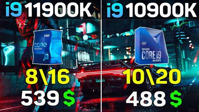 Core i9 11900K vs i9 10900k - Benchmark Test in 10 Games