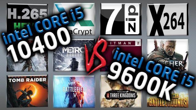 Intel i5 10400 vs Intel i5 9600K Benchmarks – 15 Tests ?