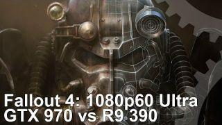 Fallout 4 PC 1080p60 Ultra: GTX 970 vs R9 390 Frame-Rate Test
