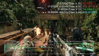 Intel Skylake Core i7 6700K vs i5 6600K Stock/Overclock Gaming Benchmarks