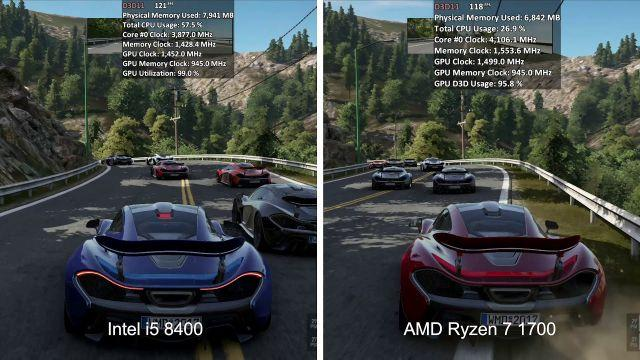 TEST | Intel i5 8400 VS AMD Ryzen 7 1700 4.1Ghz | RX VEGA 64 | 7 games | 1080p