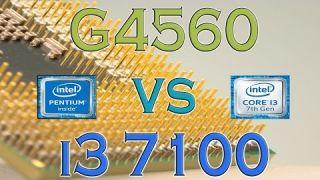 G4560 vs i3 7100 - BENCHMARKS / GAMING TESTS REVIEW AND COMPARISON / Kaby Lake vs Kaby Lake
