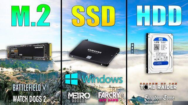 M.2 NVME vs SSD vs HDD Loading Windows and Games