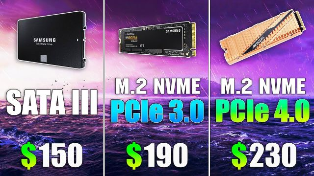 SSD NVMe PCIe 4.0 vs SSD NVMe PCIe 3.0 vs SSD SATA III Loading Windows and Games