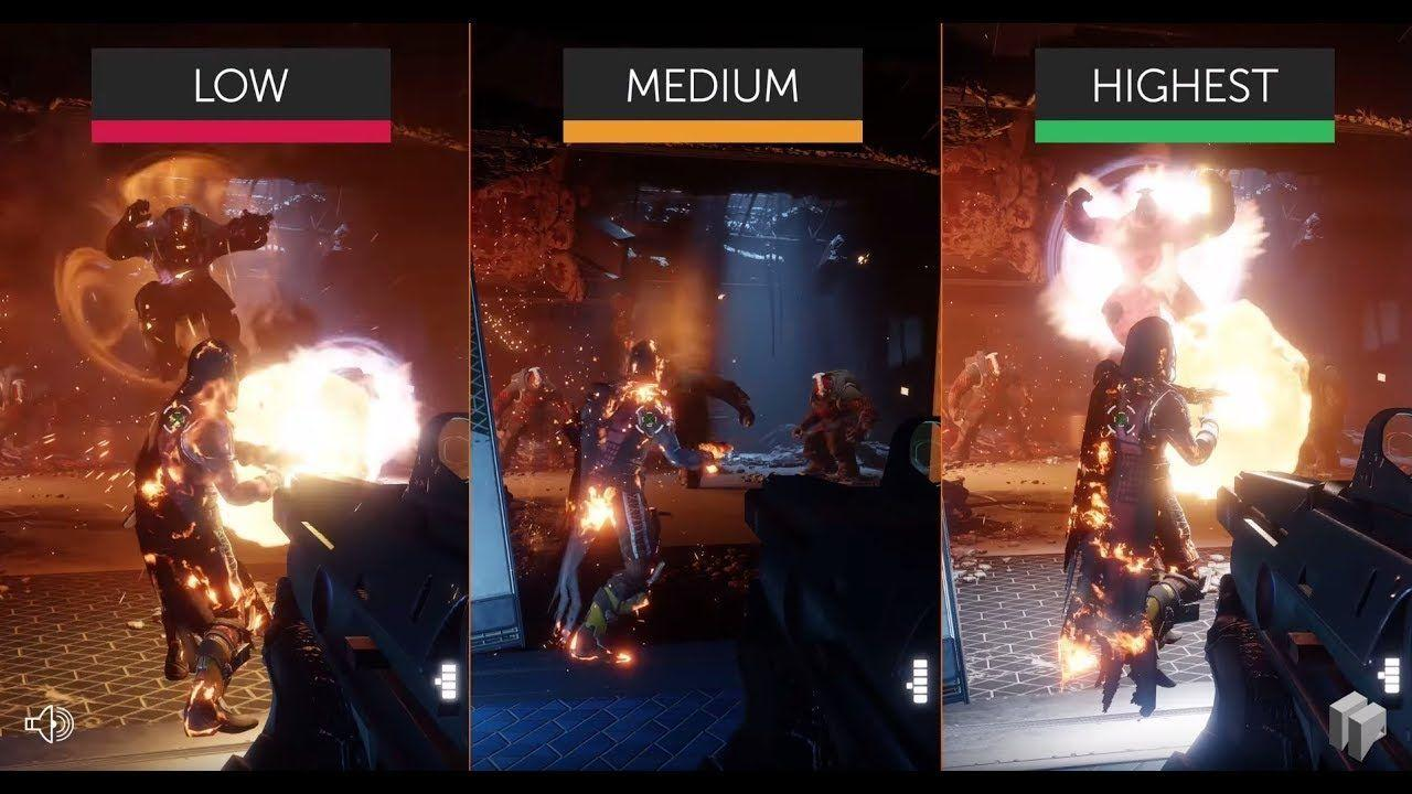 Destiny 2 PC Beta – Highest vs. Medium vs. Low | PC | 4K UHD Graphics Comparison