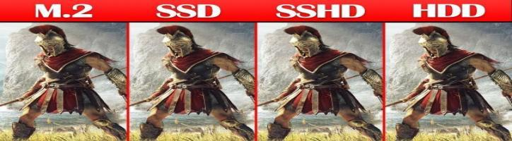 M.2 NVME vs SSD vs SSHD vs HDD Game Loading Times