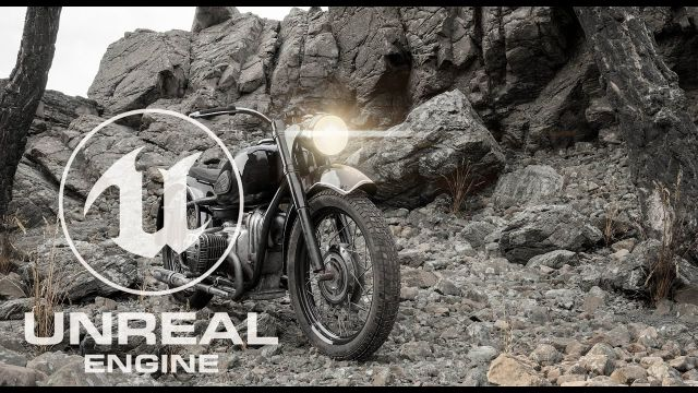 Unreal Engine 5 Real-Time Nanite\Lumen K-750 Soviet Moto Demo  #UE #UE5 #UnrealEngine5
