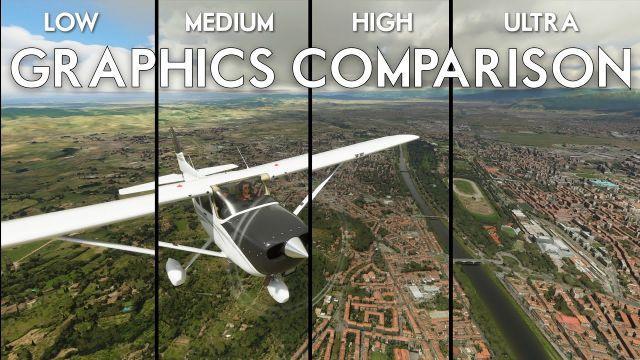 Microsoft Flight Simulator 2020 - Low vs Ultra GRAPHICS COMPARISON