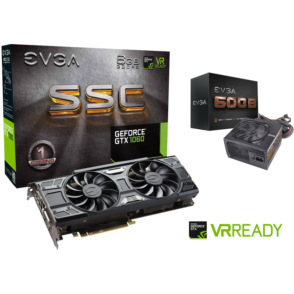 top achat evga gtx 1060 6go ssc gaming acx 3 0 alimentation evga 600b config. Black Bedroom Furniture Sets. Home Design Ideas