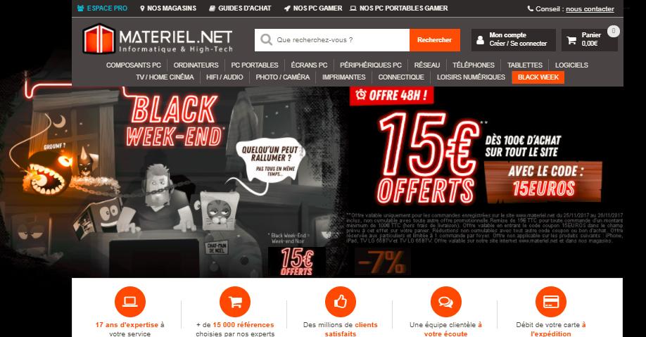 15 offerts d s 100 d 39 achat sur tout le site pendant 48 h config. Black Bedroom Furniture Sets. Home Design Ideas
