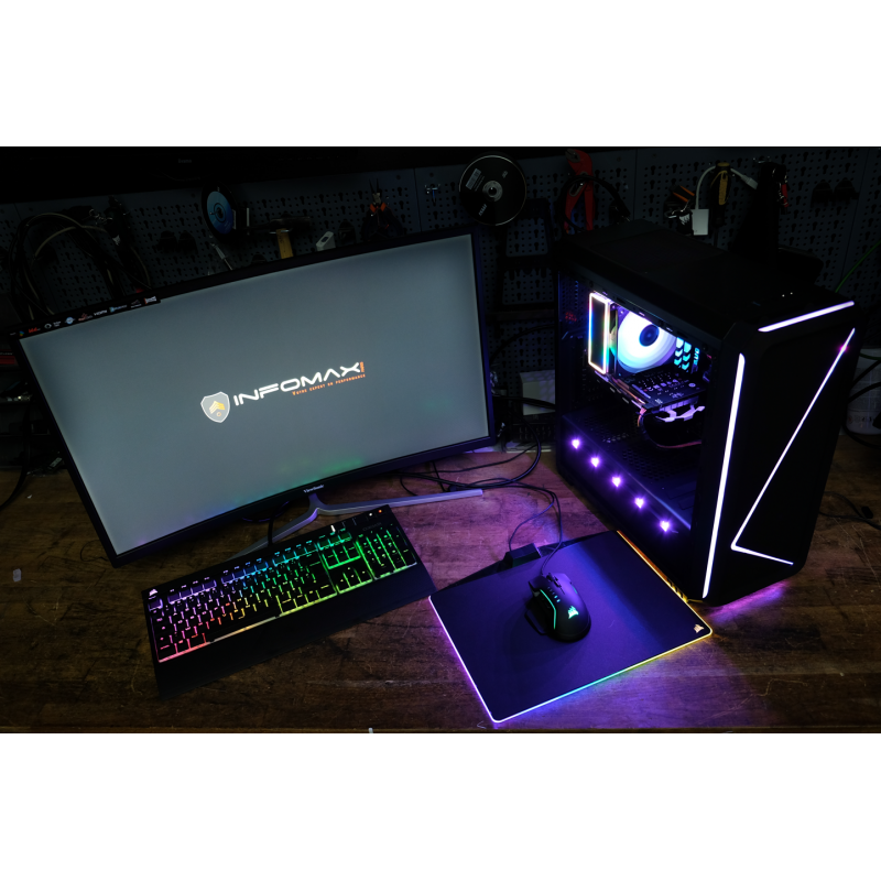 pc weapon case 2k18 le retour i5 8400 8gb rgb gtx. Black Bedroom Furniture Sets. Home Design Ideas