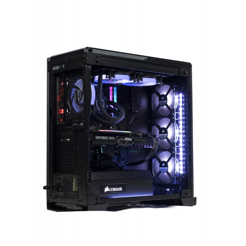 pc gamer 2100 black armor project h intel i7 8700k. Black Bedroom Furniture Sets. Home Design Ideas