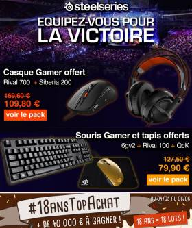 Topachat : Packs Gamer Steelseries en promo !