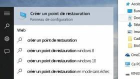 Tuto Windows : Les points de restauration