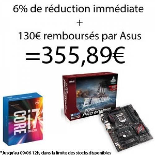 Top achat : i7-6700k + Asus Z170 Pro Gaming à 355.89€