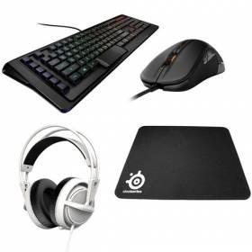 Remises sur les packs complets Steelseries (souris + clavier + casque + tapis)