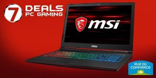 Bon plan sur le portable MSI GP63 8RF-677FR Leopard ( GTX 1070 - I7 - 16Go de ram - SSD - Windows )