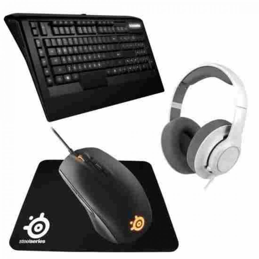 pack gaming steelseries casque siberia clavier apex souris rival tapis 224 99 99