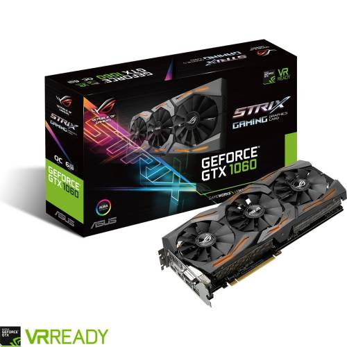 Vente Flash : -55€ sur la ASUS Rog GTX 1060 STRIX !