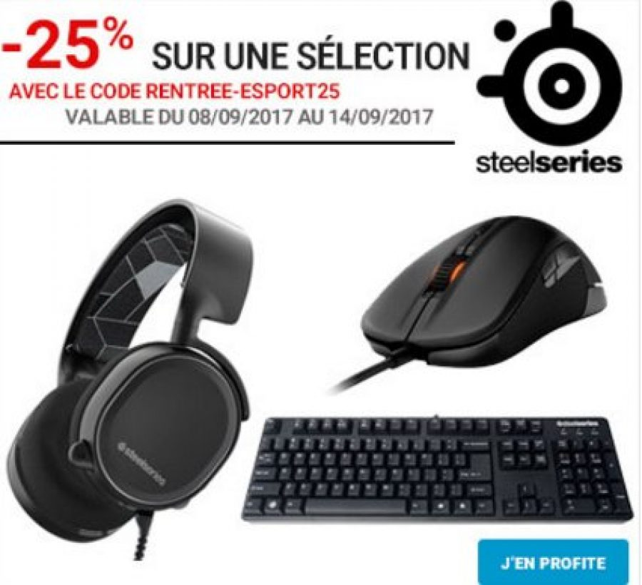 bon plan 25 de r duction sur des p riph riques steelseries rdc config. Black Bedroom Furniture Sets. Home Design Ideas