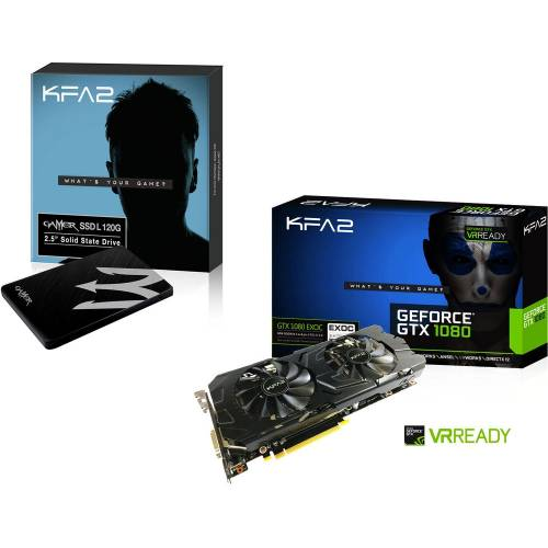 Vente Flash - GTX 1080 EXOC + SSD 120 Go = 526€