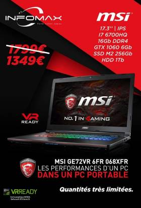 Black Friday : Portable Gamer MSI - 1349€ au lieu de 1799€