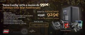 Infomax : 929€ le Build PC - One Year Anniversary