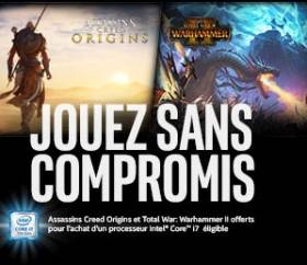 Bundle i7-7700k : Assasin's creed : origins et Total War - warhammer 2 offert