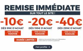 Bon plan FLASH - CDISCOUNT -10€ à -40€