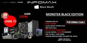 PC GAMER MONSTER : I5 9600K, 16GB, RTX 2070 ARMOR 8GB OC, 750 Watt Gold pour 1299€ au lieu de 1539€ !!!