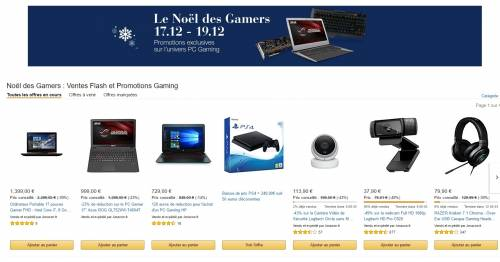 Urgent - Amazon.fr : C'est le NOEL des Gamers ce weekend !