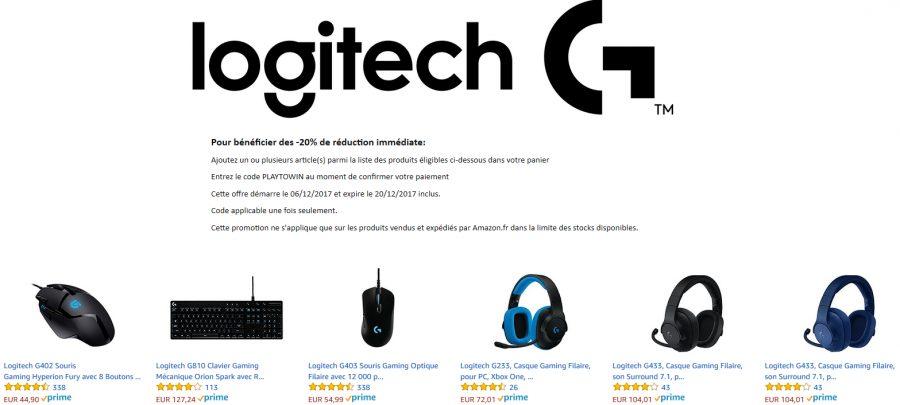 Amazon : -20% sur une sélection Logitech - Config-Gamer fr