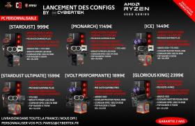 Collection AMD Ryzen série 3000, 5 PC Gamer, de 999€ à 2399€ !
