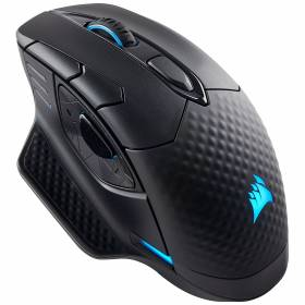 76,99€ la souris gaming Corsair DARK CORE RGB SE  - sans Fil - Recharge Qi - 16000 DPI
