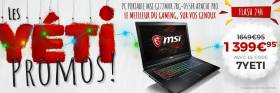 PC portable MSI (i7 + 1070 + ram 8 Go + SSD 256Go + win 10) à 1399.95€