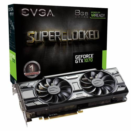 Blackfriday : 349€ la carte graphique EVGA GTX 1070 SC GAMING ACX 3.0 Black Edition