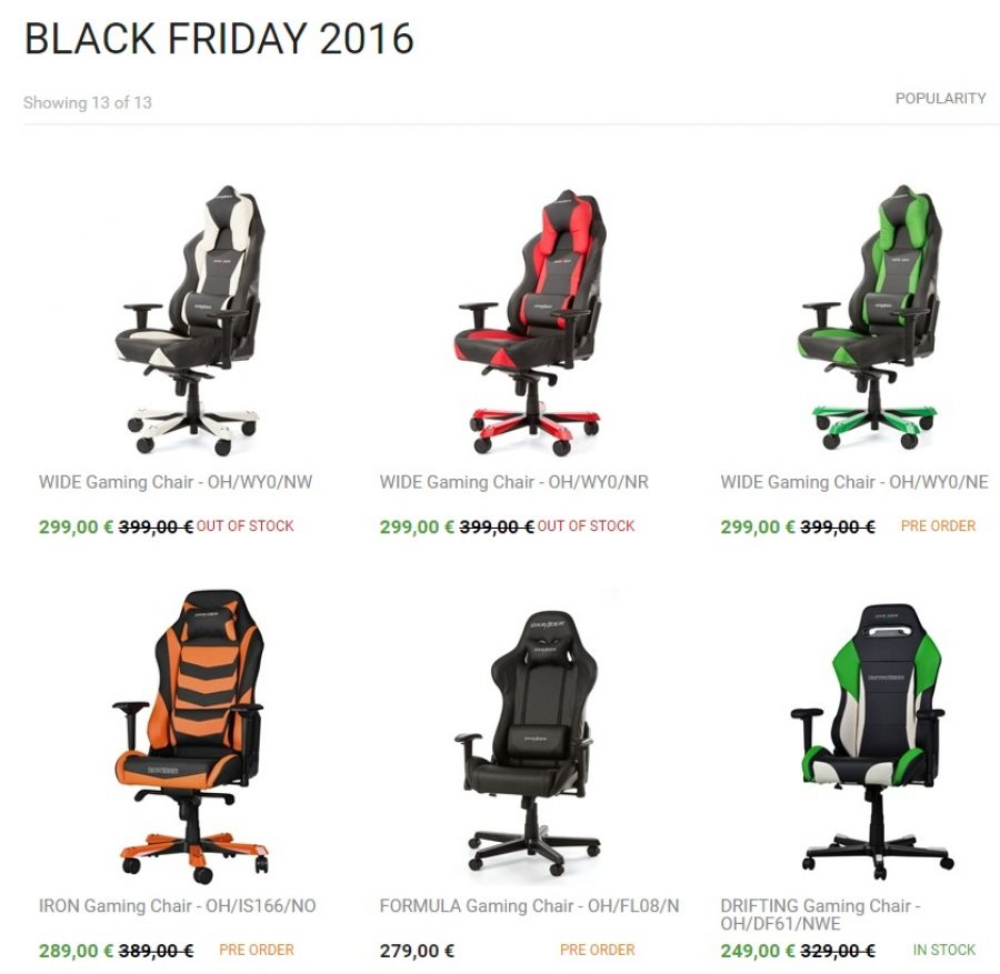 le black friday chez dxracer fauteuils gamer config. Black Bedroom Furniture Sets. Home Design Ideas
