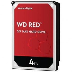 WD Red - Disque dur Interne NAS - 4To - 5 400 tr/min  (WD40EFAX) - 87€ au lieu de 140€