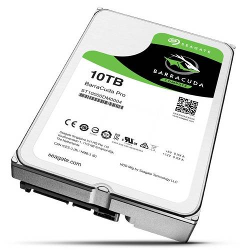 Bon plan : HDD Grosse capacité - Seagate BarraCuda Pro, 10 To à 396€