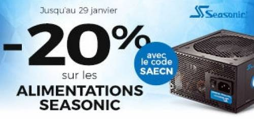 Grosbill : -20% sur les alimentations Seasonic