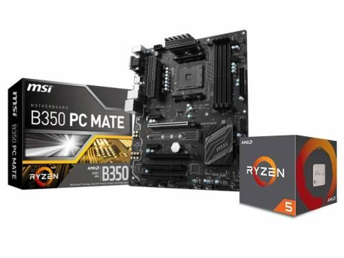 Pack AMD Ryzen 5 1600 + MSI B350 PC mate à 299.99€
