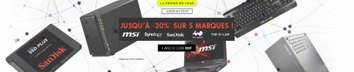 5 marques en promo sur LDLC (MSI, Synology, Sandisk, In Win, G-Lab)